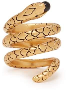 Saint Laurent Serpent Wrap Ring - Womens - Gold