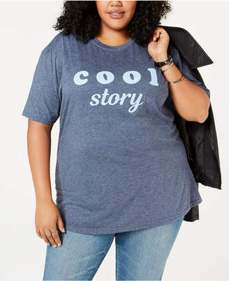 Hybrid Plus Size Cool Story Graphic T-Shirt