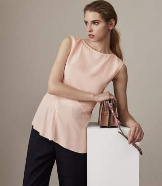 Reiss ISLIA LADDER-TRIM TOP Apricot Blush
