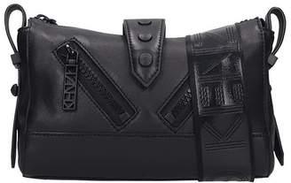 Kenzo Mini Kalifornia Shoulder Bag In Black Leather