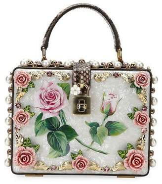 Dolce & Gabbana Dolce Box Tropical Rose PVC Top-Handle Bag