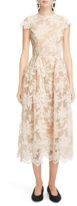 Simone Rocha Scallop Hem Corded Lace Dress