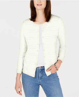 Charter Club Petite Textured Cardigan Sweater