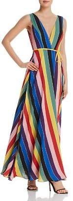 Aqua Rainbow Striped Maxi Wrap Dress - 100% Exclusive