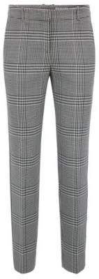 BOSS Hugo Tapered pants in Glen-check fabric striped taping 8 Patterned
