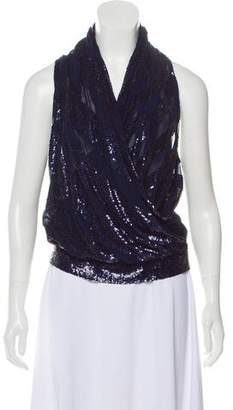 Derek Rose Sequence Sleeveless Blouse