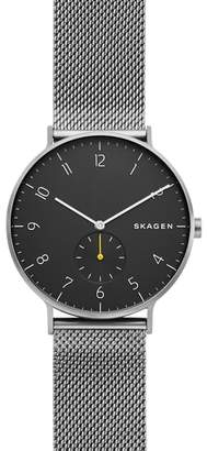 Skagen Aaren Mesh Strap Watch, 40mm