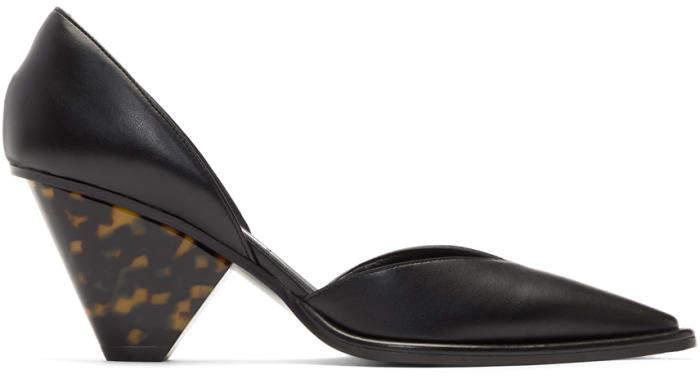 Stella McCartney Black Tortoiseshell Heels
