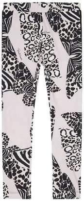 Roberto Cavalli Butterfly Print Leggings