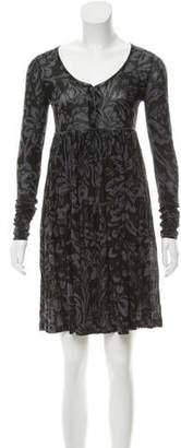 Stella McCartney Butterfly Printed Pleated Dress