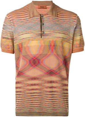 Missoni optical print polo shirt