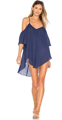 Mara Hoffman Off Shoulder Tank Dress in Navy $196 thestylecure.com