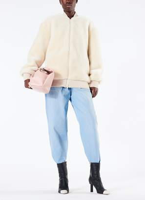 Tibi Luxe Faux Fur Track Jacket