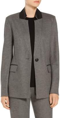 St. John Melange Flannel Jersey Blazer