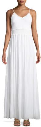 Ramy Brook Stella Crochet-Top A-Line Long Dress