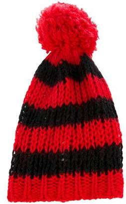 Saint Laurent Knit Pom-Pom Beanie