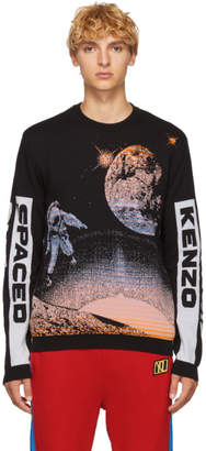 Kenzo Black 'Spaced Out' Crewneck Sweater