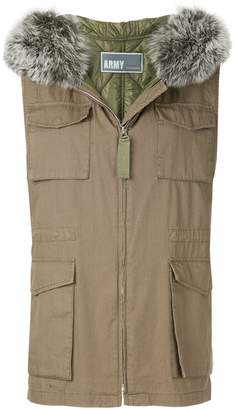Yves Salomon Army hooded jacket