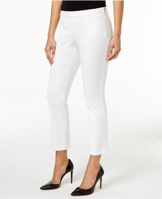 Alfani Cropped Side-Zip Pants, Only at Macy's $59.50 thestylecure.com