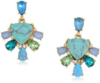 Carolee Turquoise Garden Collection Women's Cluster Stud Clip On Earrings