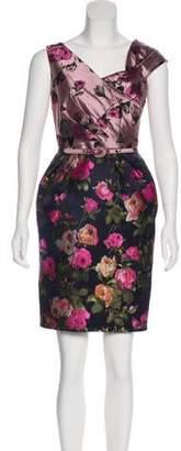 Oscar de la Renta Jacquard Mini Dress
