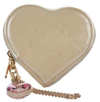 Louis Vuitton Monogram Vernis Heart Coin Purse