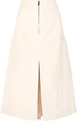 Chloé Stretch-cotton Midi Skirt - Cream