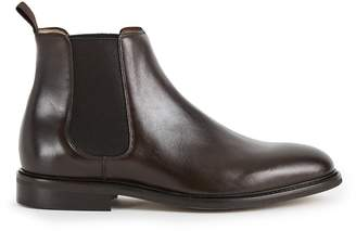 Reiss TENOR LEATHER CHELSEA BOOTS Dark Brown