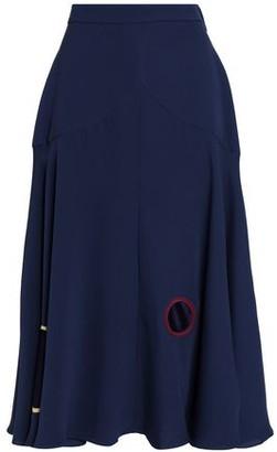 Roksanda Satin-Paneled Silk-Cady Midi Skirt