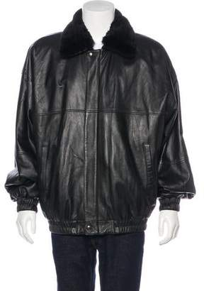 Jacket Leather Mink-Lined Jacket