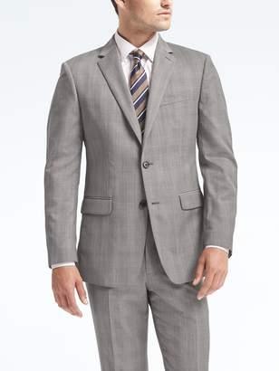 Banana Republic Standard Plaid Wool Suit Jacket