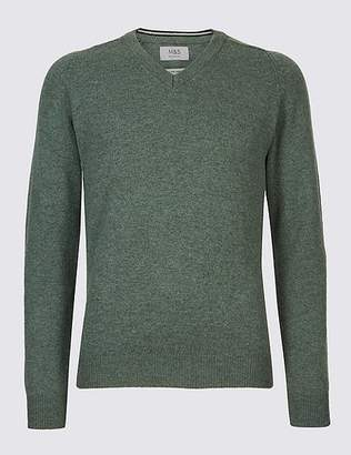 Marks and Spencer Pure Lambswool V-Neck Jumper