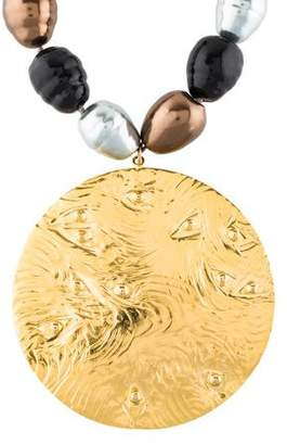 Devon Leigh Faux Pearl Pendant Necklace