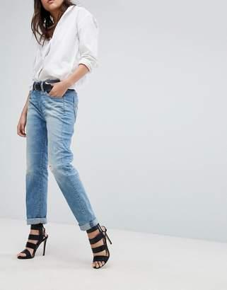 G Star G-Star Midge Saddle Boyfriend Jeans with Roll Hem