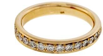14K Yellow Gold 0.42ct Diamond Bead Set Pave Band Ring Size 6.5