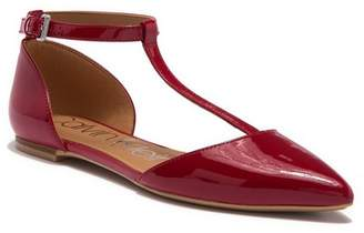 Calvin Klein Ghita Patent T-Strap Flat