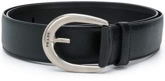 Prada oval buckle belt