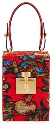 Oscar de la Renta Alibi Mini Box Top Handle Bag