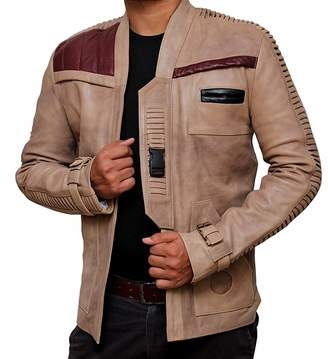 Star Wars BlingSoul Finn Costume Jacket - Real Biker Distressed Leather Jacket Men [RL-FINN-BE-XS]