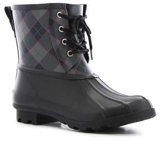 Western Chief Check Plaid Waterproof Duck Boot (Women)