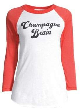 Wildfox Couture Champagne Cotton Baseball Tee