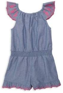 Design History Little Girl's Woven Chambray Romper