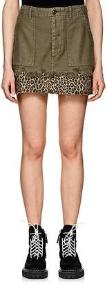 R 13 Women's Fatigue Washed Cotton Canvas Miniskirt