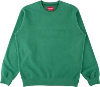 Supreme Overdyed Crewneck Sweatshirt - 'SS 18' - Dark Green