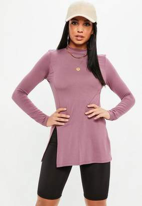 Missguided High Neck Tunic Top