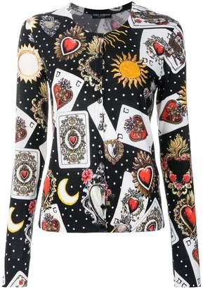 Dolce & Gabbana Playing Cards cardigan