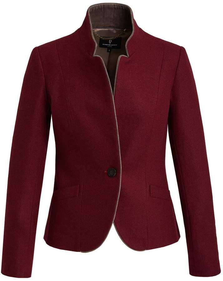 Katherine Hooker - Tallulah Jacket In Claret Herringbone