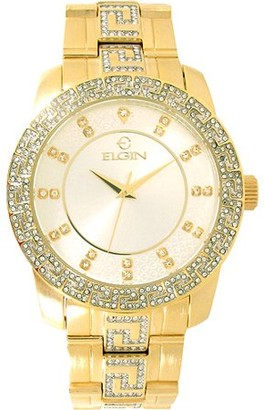 Elgin Men's Light champagne Dial with-Greek Key patter on Bzl & Brcl