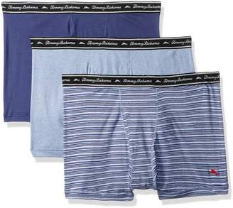 Tommy Bahama Men's Breathe Easy 3 Pack Boxer Brief-Multi Blue Stripe