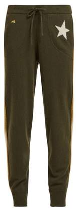 Bella Freud Billie Star Jacquard Cashmere Blend Track Pants - Womens - Khaki Multi
